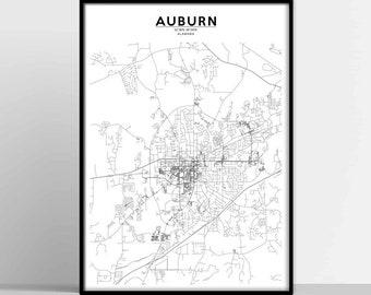 AUBURN City Map AUBURN Map Print AUBURN Map Download Auburn Street Map Auburn Poster Auburn Wall Art Color Map Auburn printable map  sc 1 st  Etsy & Auburn art | Etsy