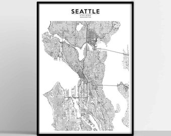 Seattle Map Etsy