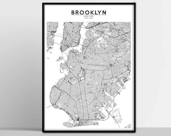 Greenpoint Brooklyn Subway Map.Brooklyn Map Etsy