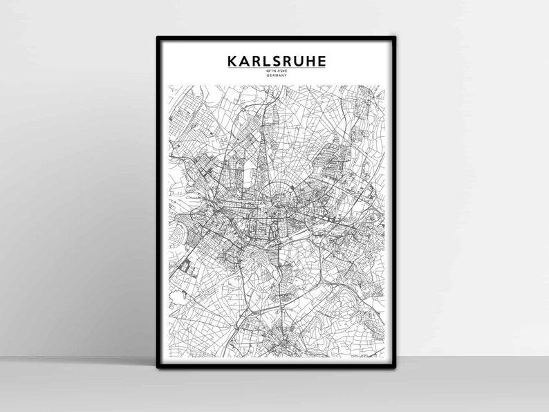 Karte Karlsruhe.Karlsruhe Stadtplan Karlsruhe Karte Drucken Karlsruhe Street Map Karlsruhe Poster Wandkunst Karlsruhe Karte Herunterladen Karlsruhe Druckbare