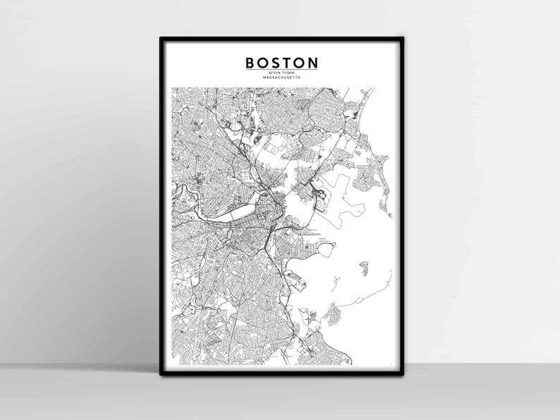 image relating to Printable Map of Boston identified as BOSTON Town Map, BOSTON Map Print, BOSTON Map Down load, Boston Road Map, Boston Poster, Boston Wall Artwork, Shade Map, Boston printable map