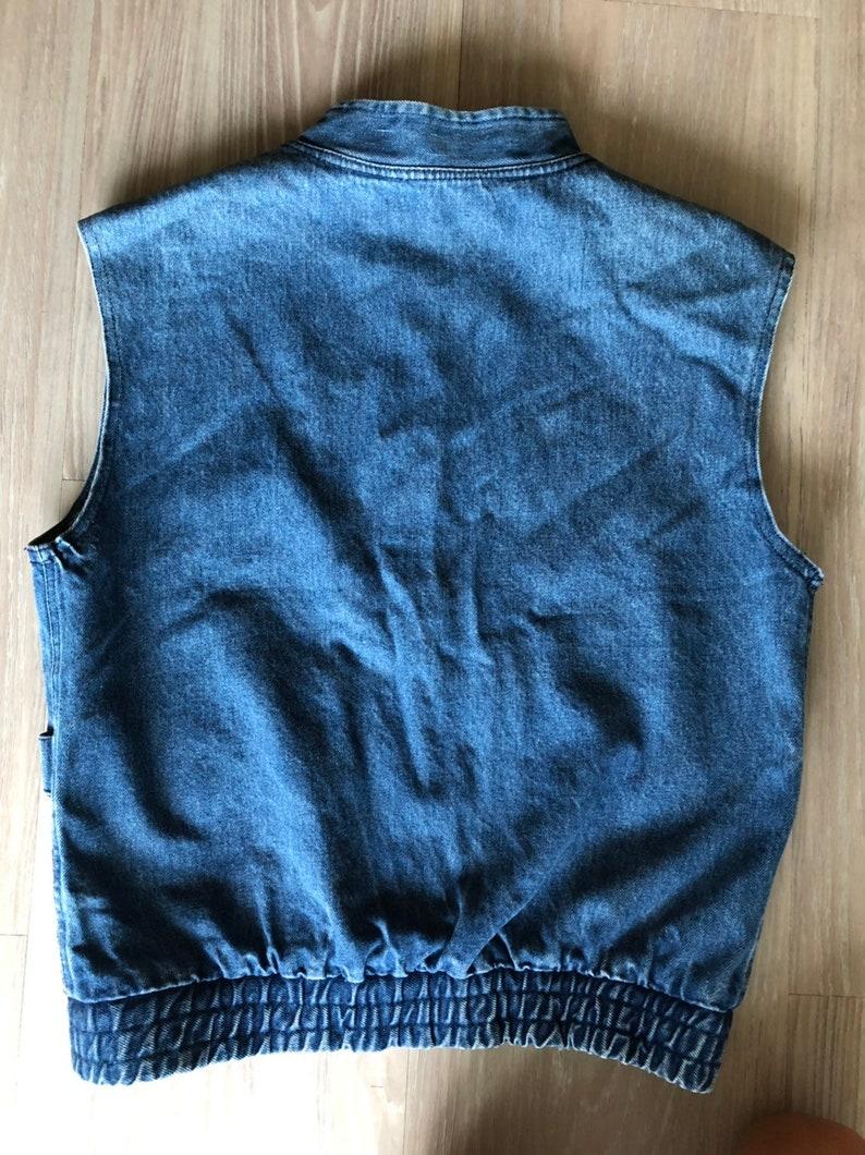Vintage Palmetto/'s denim two-toned button-up vest