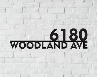 Metal House Number Sign   Address Sign   Modern Address   Art Decor Address Sign   Metal Address Sign   Address Numbers   Address Plaque
