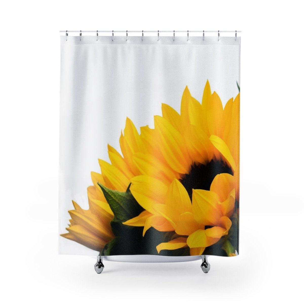 Sunflower Shower Curtain Decor