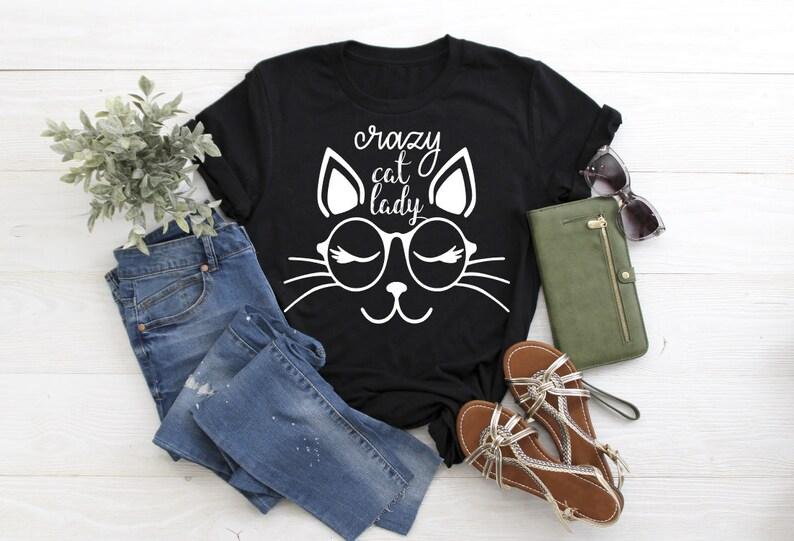 Cat Lady Shirt, Nerdy Cat Shirt, Cat Mama, Fur Baby Shirt, Funny Shirt, Cat  Lover Shirt, Gift For Cat Lovers, Funny Slogan Shirt