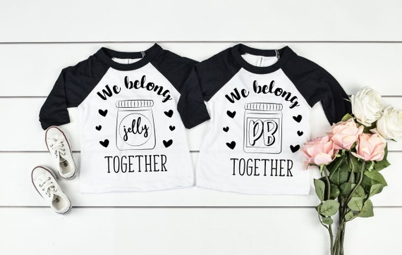 Goes with Peanut Butter Cute Twins or Halloween Toddler Kids Cotton Tee Jelly