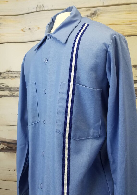 Vintage 1960s Custom Uniform Work Shirt Work Wear