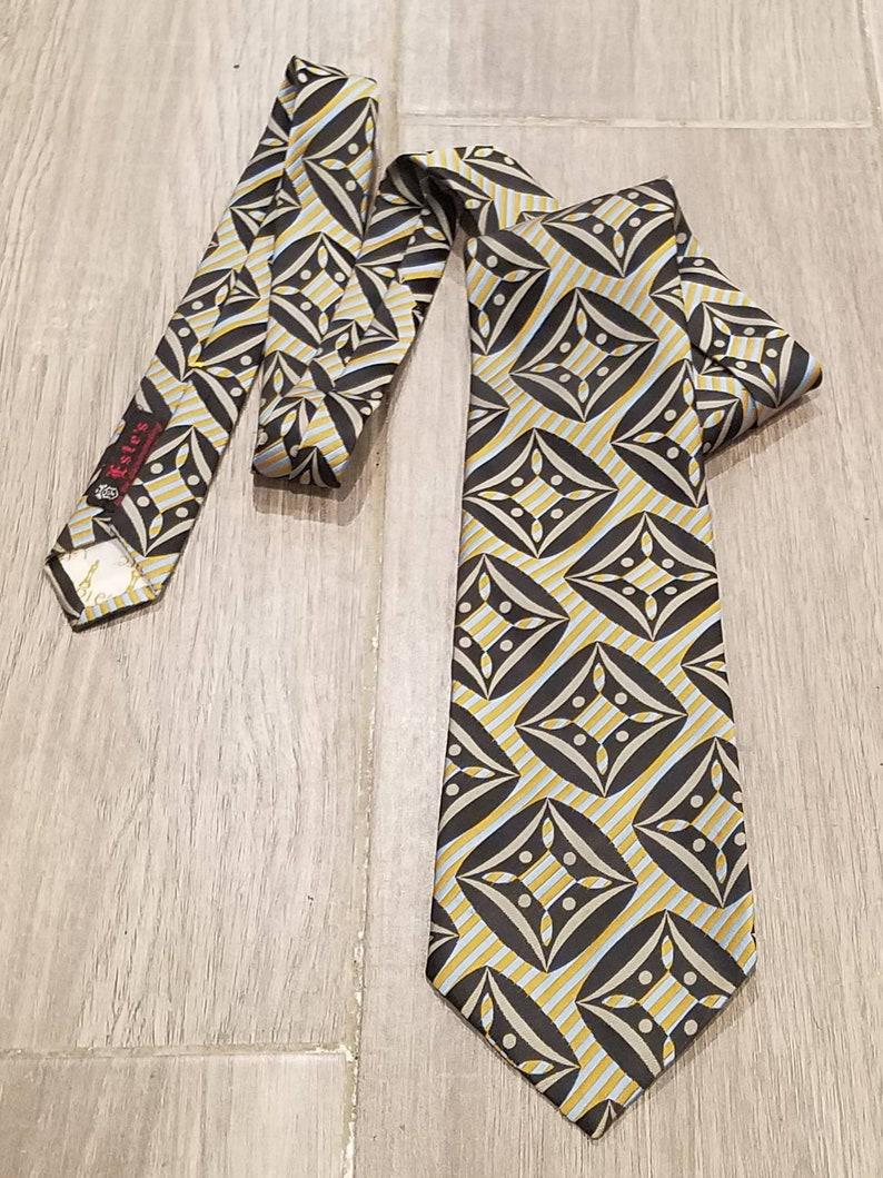 Vintage 1960s Wide Necktie Este/'s Portland Oregon Psychedelic Mod Geometric