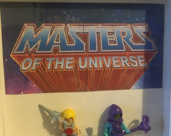 Masters of the universe He-man Skeletor mini frame