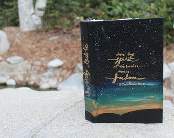 Galaxy Painted Bible