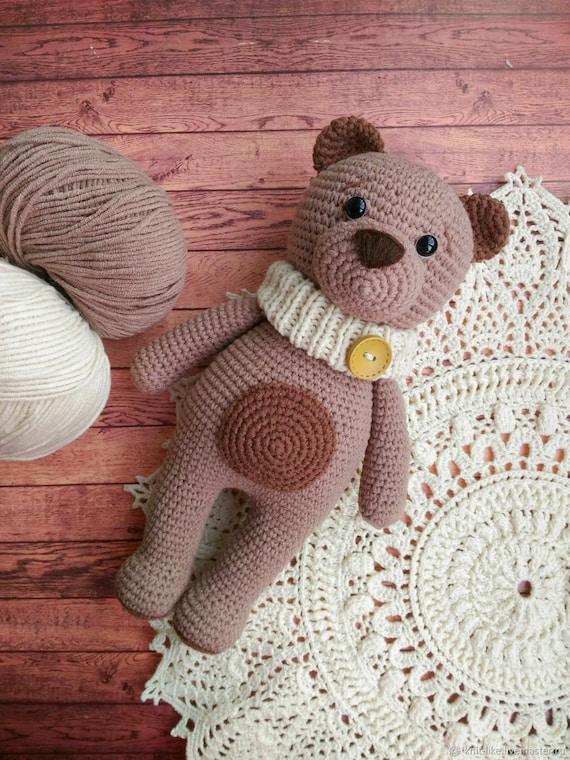 Crochet Teddy Bear Pattern Kawaii Plush Toy Crochet Pattern Etsy