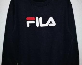 Fila Biella Italia Crewneck Pullover Spellout Sweatshirt