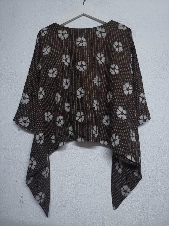 Vintage Issey Miyake Plantation Women Dress Plaid Checkered Issey Miyake Fete Blouse Miyake Plantation Size S