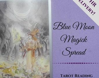Blue Moon Magick reading, tarot reading, moon reading, moon phases, psychic reading, intuitive reading, email pdf, Divination