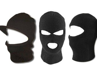 b23be2d8c77 Ski Mask Balaclava Outdoor Sport Warm Winter Visor or 1 or 3 Hole Full Face  OSFM