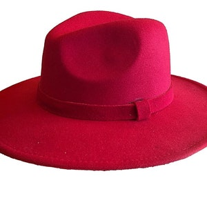 Wide Brim Fedora Sun Hat Ladies Red Hat 1920/'s Hat Steampunk Hat Wedding Smart Fancy Hat,Stingy Brim Hat,Decorated Hat Feathers Cosplay