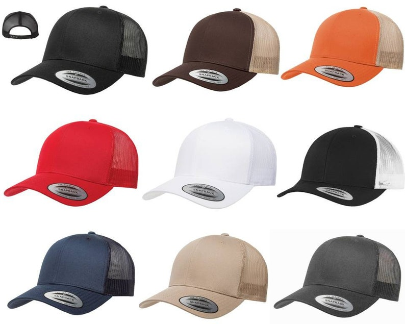 8452ea72895 Yupoong Custom or Blank Six-Panel Classic Trucker Hat Snapback