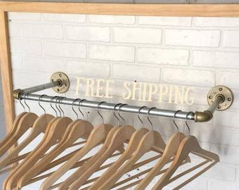 Industrial Clothing Rack - Retail Display