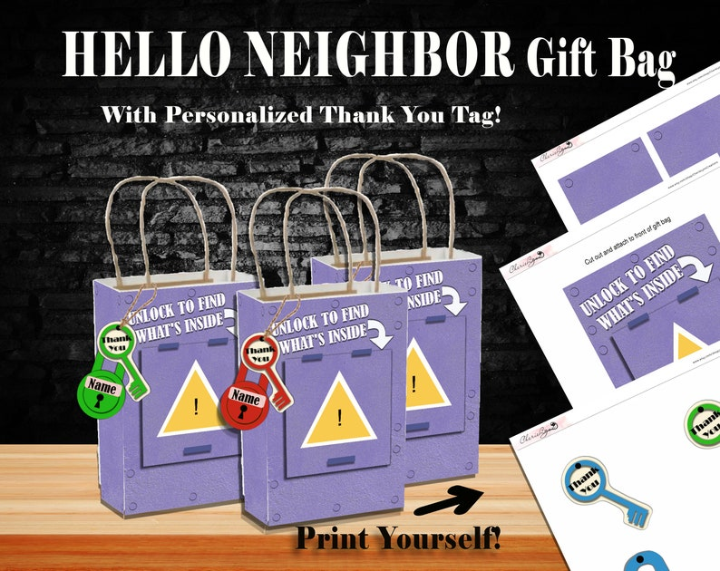 Hello Neighbor Birthday Gift Bag Video Game
