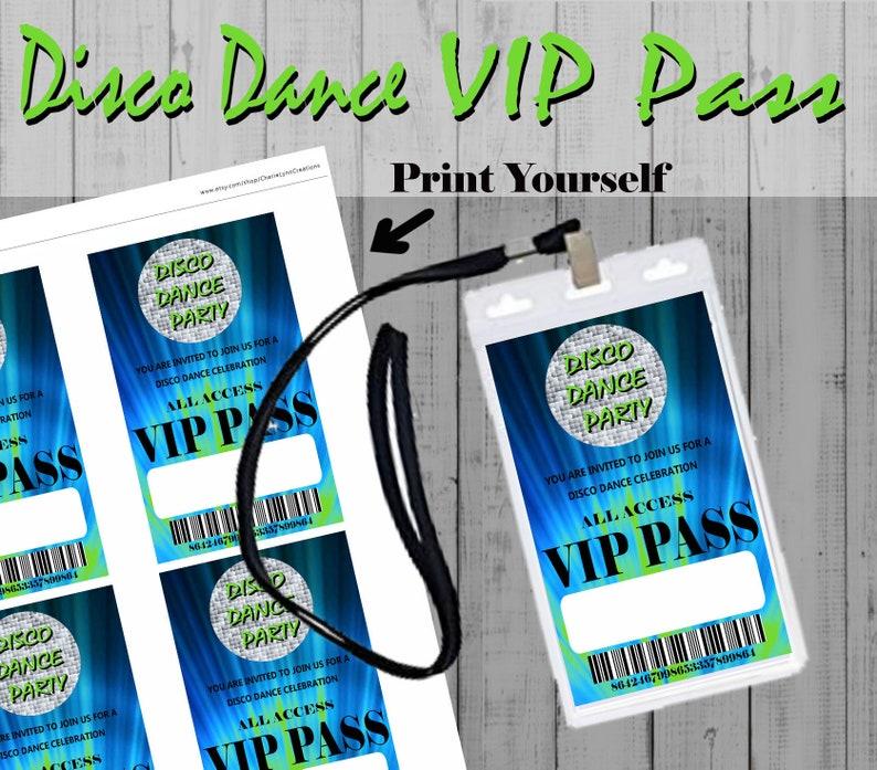 PartyDance Vip InvitationDecorationsPrintable PassParty Disco Invitation Birthday Boys UGzjMVpLSq