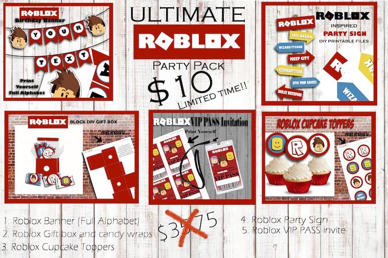 b95164a4eb Roblox Birthday Printable Roblox ULTIMATE PACKAGE Roblox   Etsy