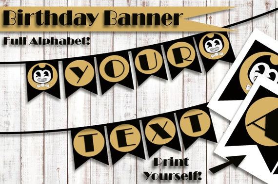 Bendy And The Ink Machine Banner Printable