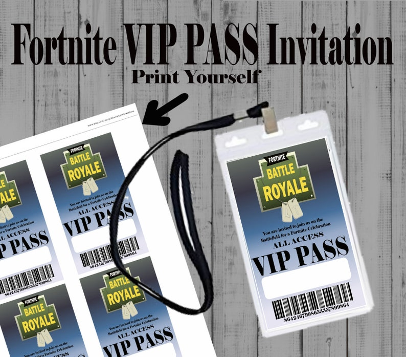 Birthday Party Decor, VIP Pass Invitations, Printable VIP Pass, Instant  Download
