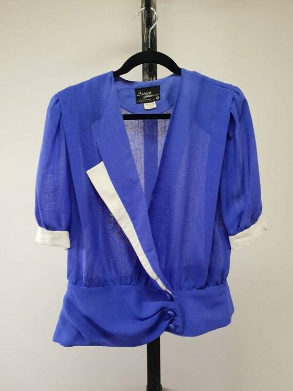 Asymmetrical 80s blouse