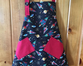 Big Brother Space Apron (size 3-5)