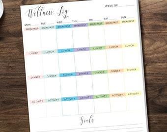 Printed Wellness Logs/ 50 Sheets per pad
