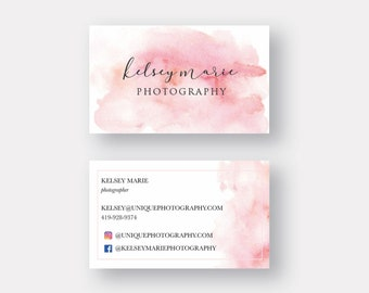 Business Cards, Printed Business Cards, Modern, Blush Watercolor