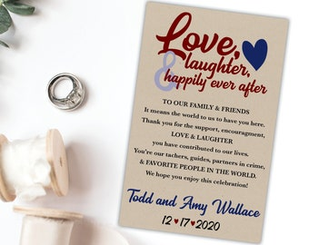 Personalized Wedding Favor Tags, Custom Tags, Personalized message