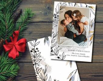 Christmas Photo Card, Christmas Greeting Card, Merry Christmas Card