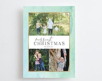 Christmas Photo Card Printed, Christmas Greeting Card, Merry Christmas Card