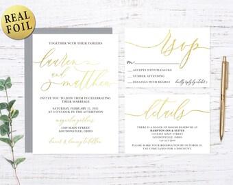 Gold Foil Wedding Set