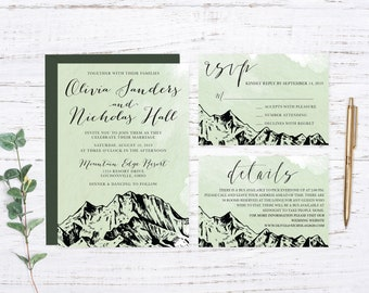 Into the Woods Printed Wedding Invitation