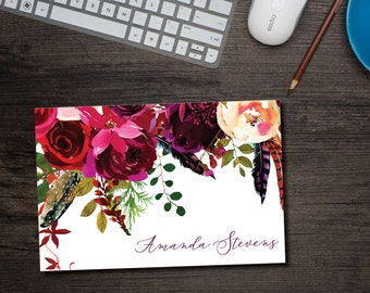 Boho Chic Note Cards Personalized with Envelopes