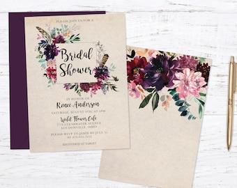 Wildflower Bridal Shower Invitation Invitation