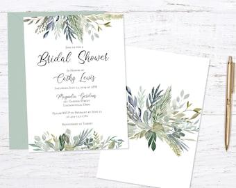 Sage Bridal Shower Invitation Invitation