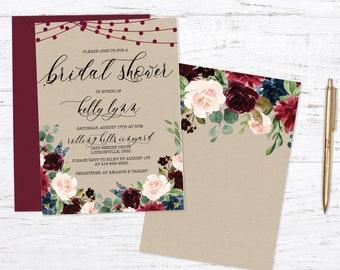 Rustic Kraft Bridal Shower Invitation Invitation