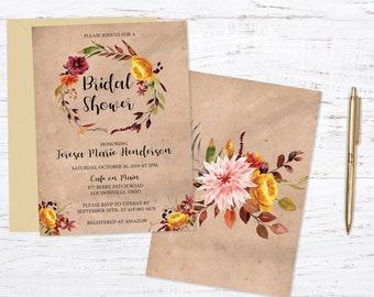 Autumn Bridal Shower Invitation Invitation