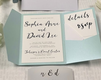 Pocket Wedding Invitation, The Sophia Suite, Available in 85+ Colors