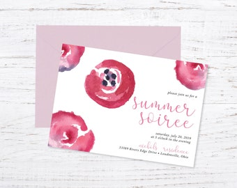 Printed Soiree Invitation + Fast Shipping