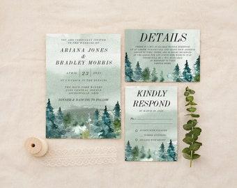 Wedding Invitation Rustic Woodland