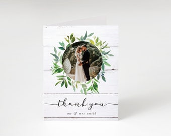 Thank You Card, Printed Folding Thank You Note