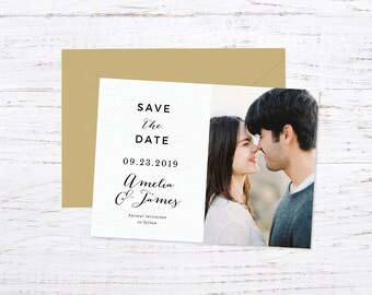 Scripted Love Save the Date Magnet OR Printed Cards + Fast Shipping