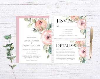 Spring Florals Wedding Invitation