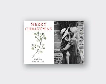 Christmas Photo Card Printed, Christmas Greeting Card, Merry Christmas Card, holiday card, holiday photo cards