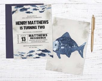 Fishing Birthday Invitation