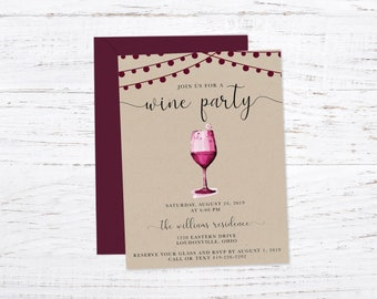 Wine Party Invitation Invitation